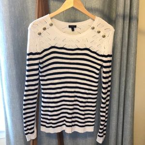 Talbots Long-Sleeve Striped Sweater Size S